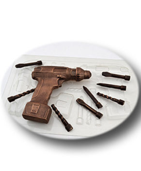 Пластиковая формочка для шоколада, Шуруповерт