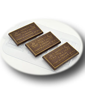 Пластиковая форма для шоколада, Свадебное Спасибо