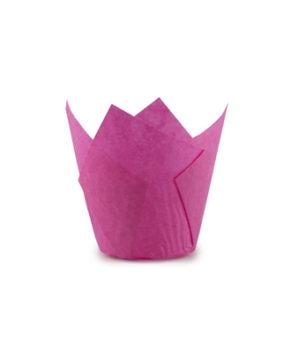 Форма для маффина Тюльпан Бордовая 50*80мм, 20шт