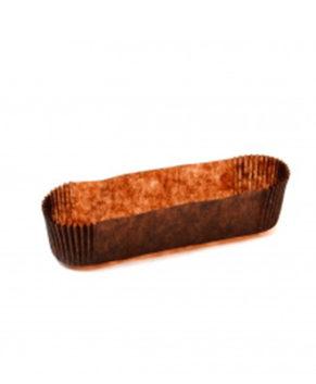 Капсулы бумажные для эклеров коричневые 34х136мм, 30шт