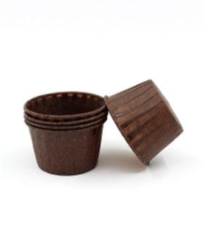Капсулы бумажные усиленные коричневые 50*40мм, 20шт