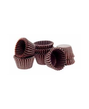 Капсулы бумажные для конфет коричневые 35х20мм, 60шт