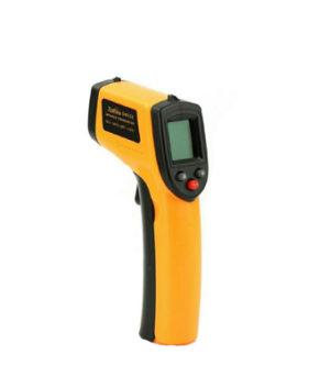Бесконтактный инфракрасный термометр (Пирометр) желтый