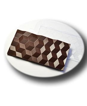 Пластиковая форма для шоколада, Плитка Кубики