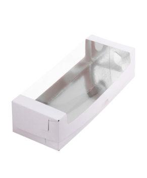 Коробка под рулет с окном 30х11х7см