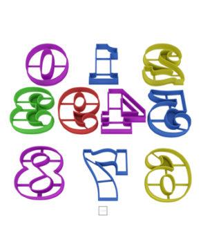 Набор форм Цифры от 0 до 9, 7см