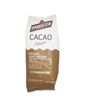 Какао порошок 100% с пониженным содержанием жира, 100гр