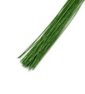 Проволока зелёная, D 0,35мм(№28),10 штук