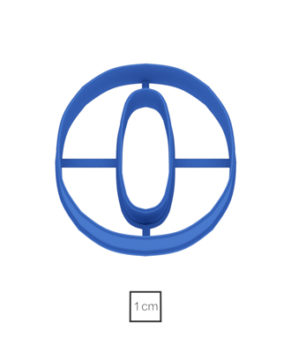Форма Цифра 0, 10см