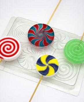 Пластиковая форма для шоколада Леденцы
