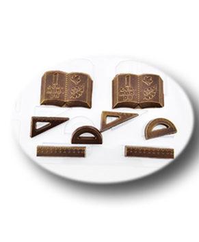 Пластиковая формочка для шоколада Школьный набор