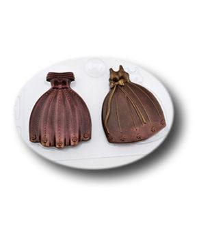Пластиковая форма для шоколада Вечерние платье