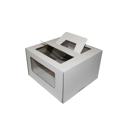 Коробка под торт с оконом и ручками