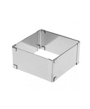 Форма раздвижная квадратная 16-32см H 10см