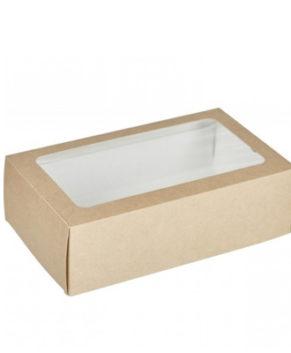Коробка для макарун и сладостей с окном 18х11х5,5см