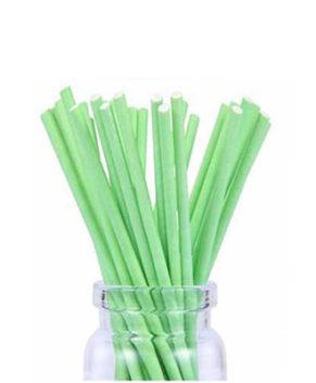 Палочки для леденцов и кейкпопсов Зеленые 10см, 25шт