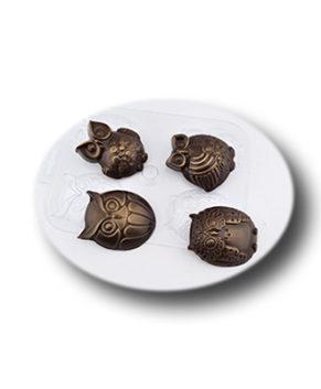 Пластиковая форма для шоколада Шоко-Совы