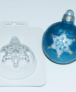 Пластиковая форма для шоколада Игрушка шар Снежинка