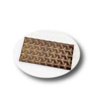 Пластиковая форма для шоколада Кубики полосатые