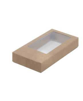 Коробка для шоколадной плитки с окном, крафт