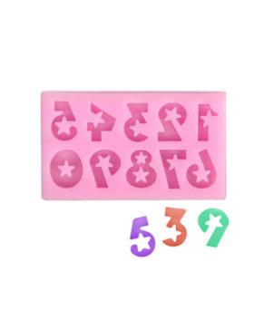 Молд силиконовый Цифры со звездами