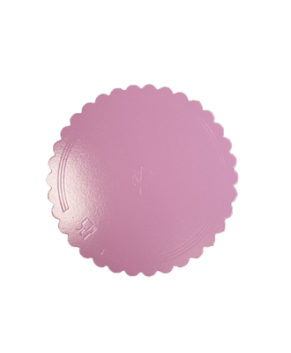 Подложка фигурная 28см, розовая/золото, 3,5мм