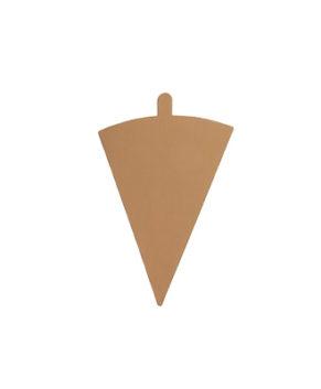 Подложка треугольная с держателем 9х12см/0,8мм золото