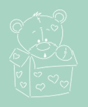 Вырубка+Трафарет Мишка Тедди в коробке