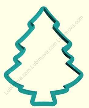 Вырубка Рождественская елочка