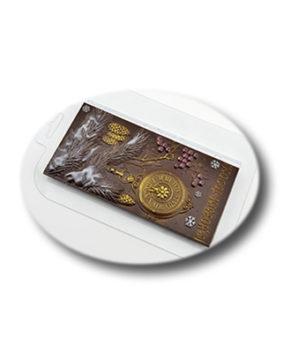 Пластиковая форма для шоколада, Плитка НГ Ёлка и часы