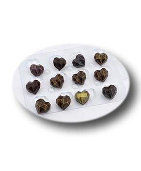 Пластиковая форма для шоколада, Конфеты Граненое сердце