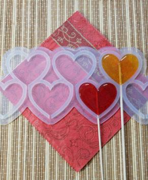 Молд силиконовый Сердечки-Топпер 5,5см