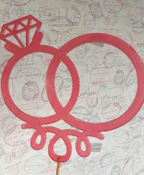 Молд силиконовый Свадебные кольца-Топпер