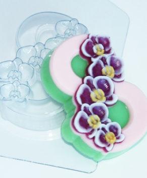 Пластиковая форма для шоколада, 8 Марта Орхидеи