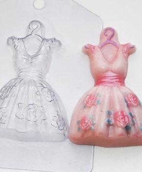 Пластиковая форма для шоколада Платье