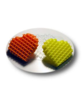 Пластиковая форма для шоколада Вафельное сердце