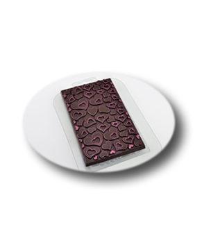 Пластиковая форма для шоколада, Плитка в сердечках