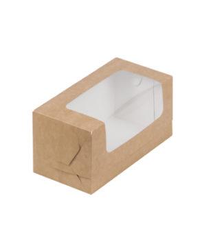 Коробка для кекса 20х10х10 см, крафт