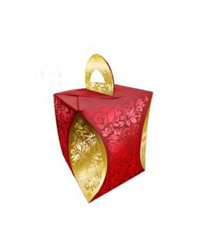 Коробка для кулича Узор Хохломы D=124мм
