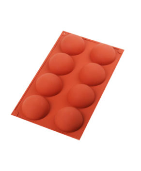 Форма силиконовая Полусфера 6см, 8 ячеек