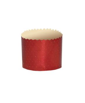Форма бумажная Цветная красная, Кулич 100гр, 10шт