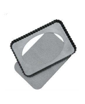 Форма для выпечки со съемным дном, Рифленый прямоугольник