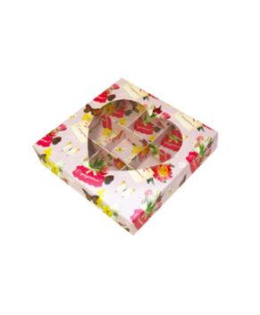Коробка на 9 конфет с окном, С Праздником