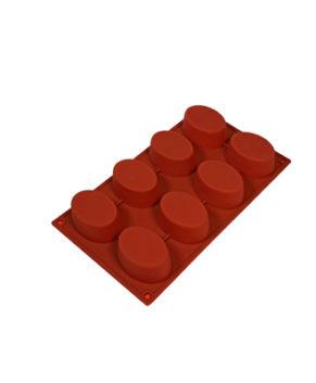 Форма силиконовая Эллипс гладкий, 8 ячеек