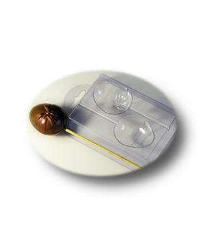 Пластиковая форма для шоколада Яйцо с бантиком на палочке