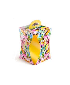 Коробка для кулича Бабочки цветные D=124мм