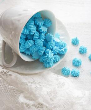 Сахарная фигурка Мини-безе голубые, 50гр