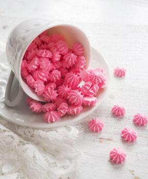 Сахарная фигурка Мини-безе розовые, 50гр