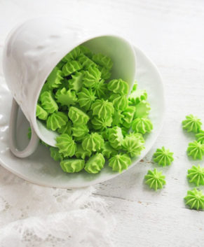 Сахарная фигурка Мини-безе зелёные, 50гр