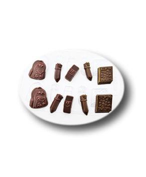 Пластиковая форма для шоколада Школьный набор